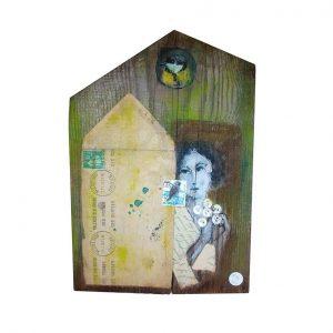 Objet décoratif - Bois peint