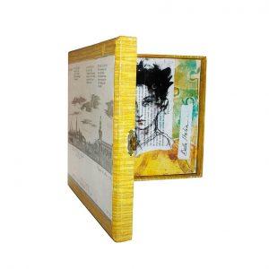 Objet décoratif bois- Peinture et collages